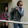John and Cameron dressed as the average teenager in TSCC
