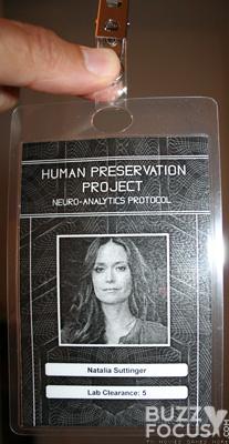 Natalia Suttinger ID badge from Press Kit