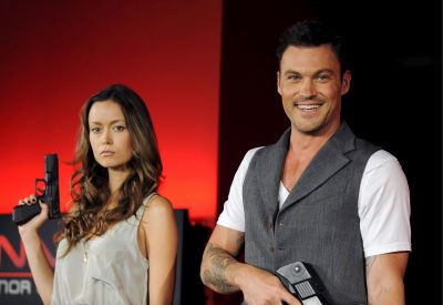 Summer Glau and Brian Austin in Japan during their TSCC DVD Promotion Tour
