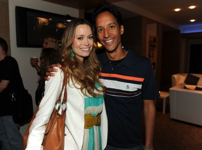 Summer Glau and Danny Pudi attend the NBC rooftop party during Comic-Con 2010