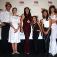 Cast members from the musical play 'Selena Forever' pose at the 3rd Annual Ritmo Latino Music Awards, 'El Premio De La Gente' on October 18, 2001 at Shrine Auditorium in Los Angeles