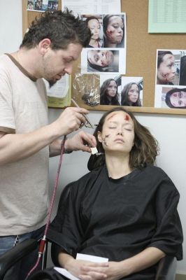 Summer Glau makeup in Terminator : The Sarah Connor Chronicles