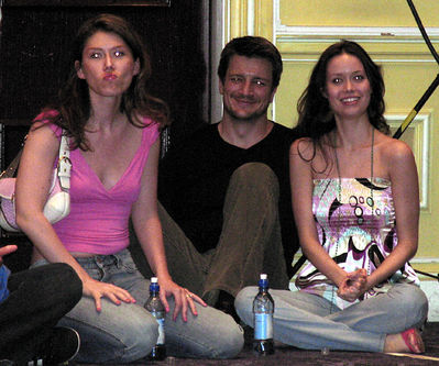 Jewel Staite, Nathan Fillion and Summer Glau Firefly