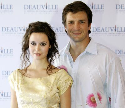 nathan fillion and summer glau at the 31st Deauville Festival of American Film on September 3, 2005, in Deauville, France