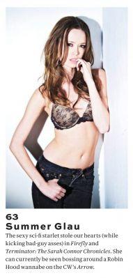 Summer Glau in Maxim Hot 100 Issue, June 2014
