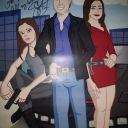 Drawing featuring Summer Glau as Cameron signed by Summer