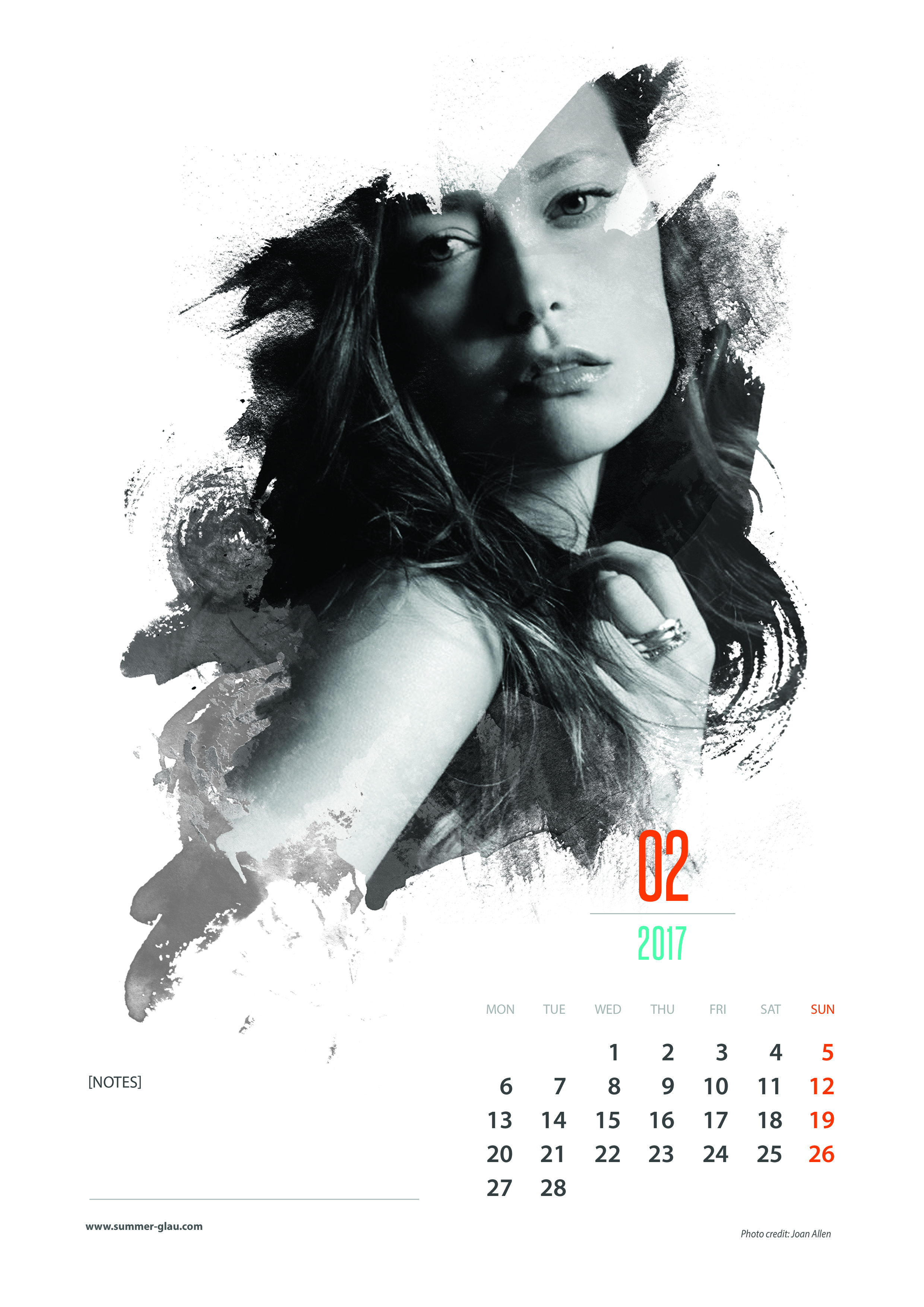 Monthly Calendar Print Out : Summer glau calendar now available december
