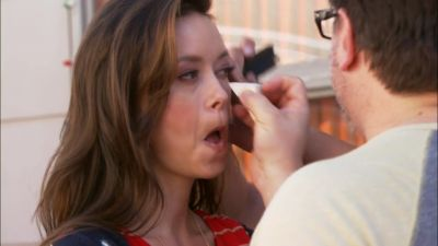 Summer Glau in Help for the Holidays - Makeup session