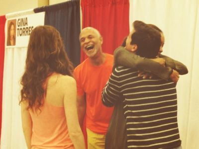 Summer Glau, Ron Glass, Gina Torres and Sean Maher at Dallas Comic Con, May 16 - 18, 2014