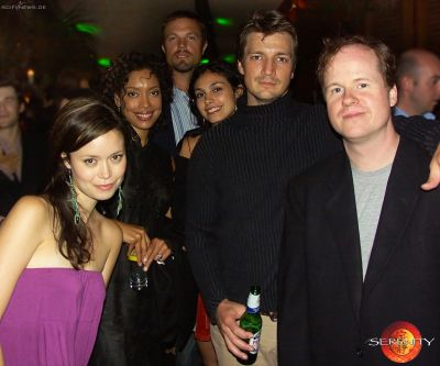 Serenity cast & crew at after party at Edinburgh IFF - August 22, 2005