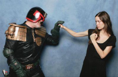Summer Glau and Judge Dredd cosplay at LFCC