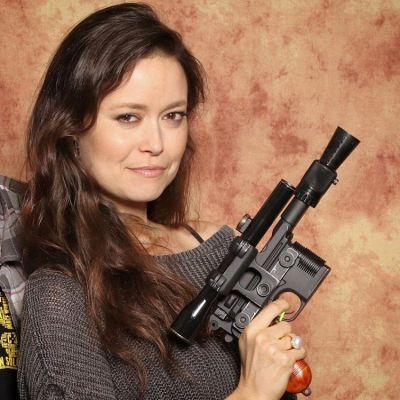 Summer Glau (River Tam from Firefly) rocking one of my blaster builds<br />