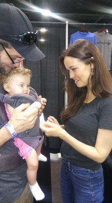 Such a pleasure to meet my 2nd cast member of Firefly/Serenity, Summer Glau.