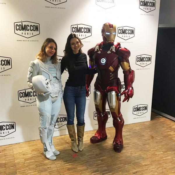 Summer Glau meets Iron Man and The Ghost at Comic Con Paris