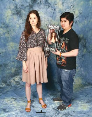 No wonder Summer and her husbandVal were impressed by the Cameron bust that Jonathan brought toMCM London Comic Con