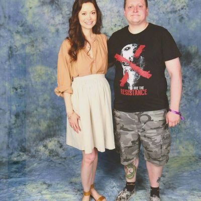 Summer posing with Terminator fan at MCM London