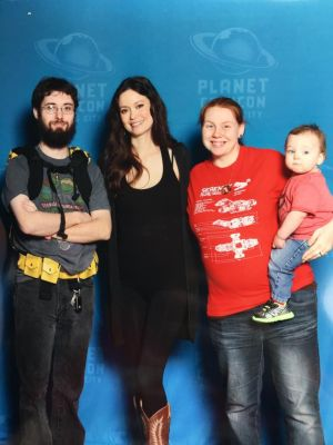 Planet Con was a blast!! We got a lot of cool stuff. Summer Glau was a doll! She spent most of our time together talking to Casen.
