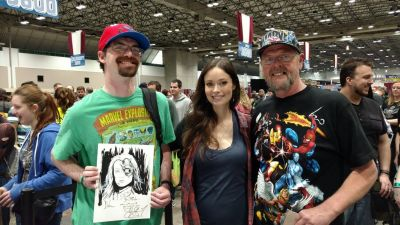 Meeting Summer Glau was everything I thought it could be. She was wonderful. I'm holding the sketch that I commissioned for her to sign.
