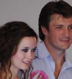 Summer Glau and Nathan Fillion at the premiere of 'Serenity' at the 31st Deauville Festival Of American Film