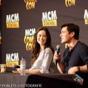 Summer Glau and Sean Maher at the Firefly panel at Hannover Comic Con