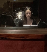 Summer is recording an audiobook
