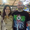 Me and TV star Summer Glau at MCM Belfast