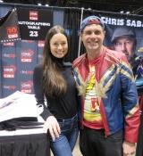 Getting an autograph and picture with the awesome Summer Glau