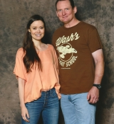 Summer Glau poses with fan at FAN EXPO DALLAS