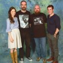 Summer Glau and Sean Maher posing with fans at Hannover Comic Con