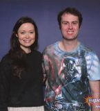 I finally got to meet Summer Glau! She's just so friendly and she got excited about writing a quote from Terminator: TSCC!