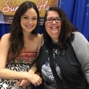 Summer Glau was awesome. She's 8 months pregnant with a little girl!